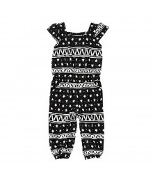 Crazy8  Black/White Geo Print Romper