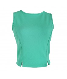 Living Doll Green Knit Crop Top