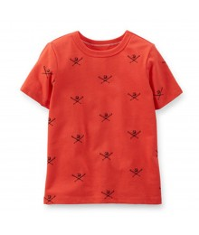 Carters Red Tees Wt Baseball Print