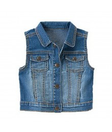 Crazy 8 Blue Denim Vest Jacket Little Girl
