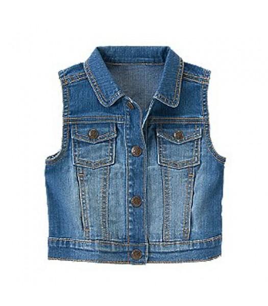 Crazy 8 Blue Denim Vest Jacket