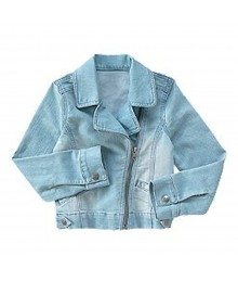 Crazy 8 Blue Faded Denim Moto Jean Jacket