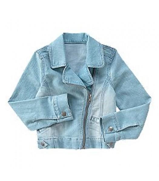 Crazy 8 Blue Faded Denim Moto Jean Jacket