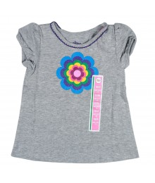 Citrco Flowered Grey Top