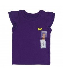 Carters Girls Purple Flutter Sleeve Tee