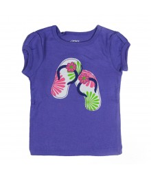 Carters Purple Flip Flop Applique Tee  Baby Girl