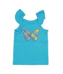 Carters Turq Plaid Butterfly Tank