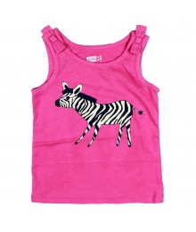 Crazy 8 Pink Tank With Zebra