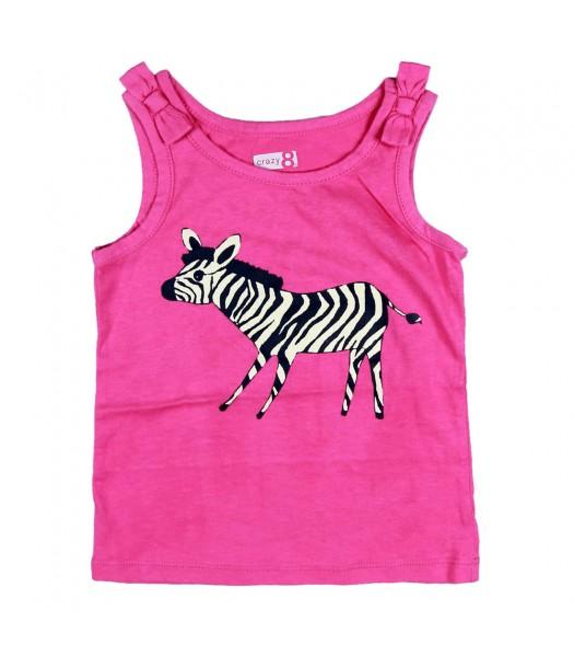 Crazy 8 Pink Tank With Zebra