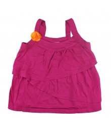 Crazy 8 Pink Tiered Top Wth Orange Corsage  Little Girl