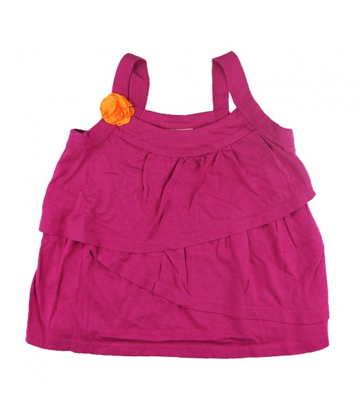 Crazy 8 Pink Tiered Top Wth Orange Corsage