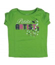 Crazy 8 Petite Artist Green Tee Baby Girl