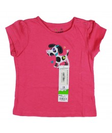 Jumping Beans Pink Dalmation Applique Tee