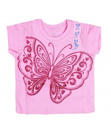 Childrens Place Big Butterfly Graphic Pink Tee Baby Girl