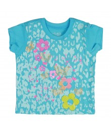 Childrens Place Garden Butterfly Graphic Turq Tee Baby Girl