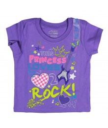 Childrens Place Princess Rock Graphic Purple Tee Baby Girl