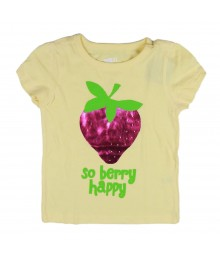 Crazy 8 Yellow Strawberry Tee