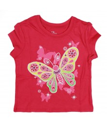 Childrens Place Pink Butterfly Tee
