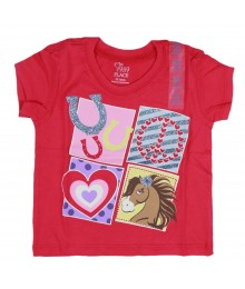 Childrens Place Pink Horse Lover Graphic Tee