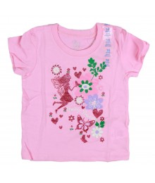 Childrens Place Pink Fairy Princess Graphic Tee