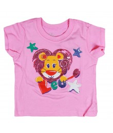 Childrens Place Pink Leo Graphic Tee Baby Girl