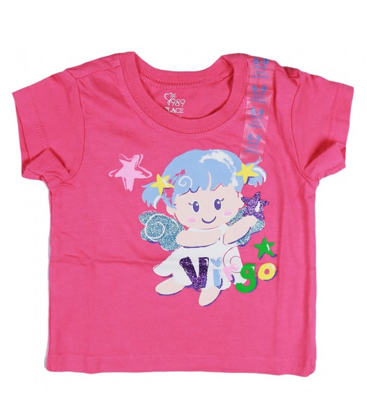 Childrens Place Pink Virgo Graphic Tee