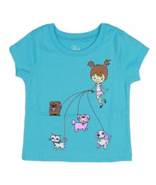 Childrens Place Turq Tee Dog Walk