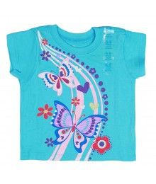 Childrens Place Turq Butterfly Trail Baby Girl