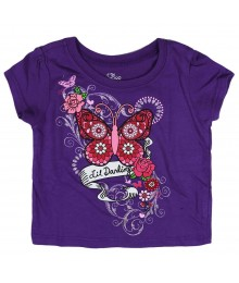 Childrens Place Purple Tee- Lil Darling