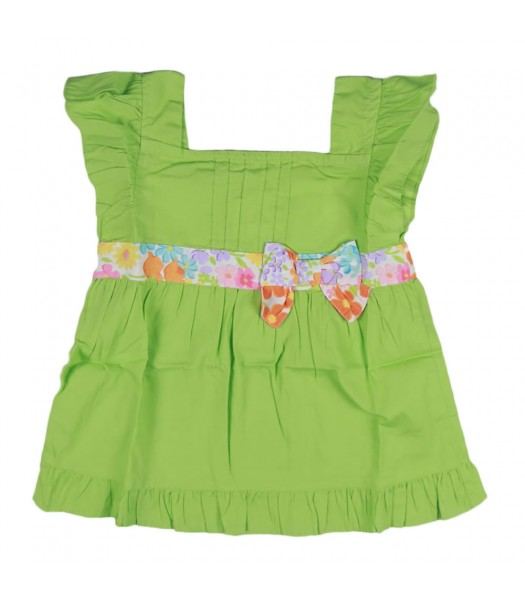Gymboree Green Floral Bow Top Girls Little Girl