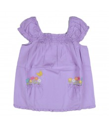 Gymboree Lilac Smocked Flower Girls Top Little Girl