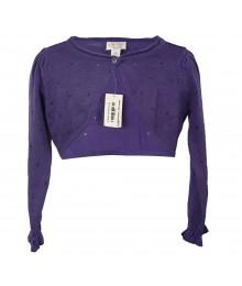 Childrens Place Lil Girls Purple Dressy/Eyelet Sweater