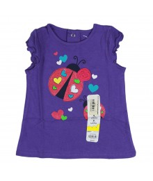 Jumping Beans Purple Tee- Lady Bug