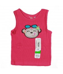 Jumping Beans Pink Tank Wt Monkey Applique Baby Girl