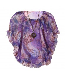 Knitworks Purple Abstract Circle Top Wt Cami Big Girl