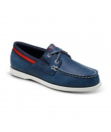 Sperry Navy  Wt Red/Navy Taping Boys  Slip On
