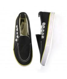 Crazy 8 Skull Slip On Sneakers Black