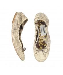 Sam Edelman Cream/Beige Snake Skin Ballet Shoes