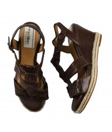 Nurture Mackenna Dark Brown Wedge Sandals