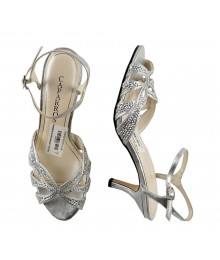 Caparros Silver Jeweled Dress Sandals