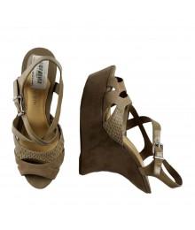 Gianni Bini Nude Wedge Sandals (Gaga)