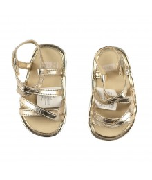 Crazy 8 Gold Strappy Sandals