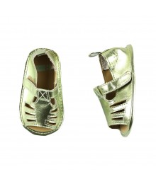 Crazy 8 Green Metallic Peep Toe Cut Out Sandal