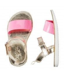 Oshkosh Pink/Gold Strap Sandals