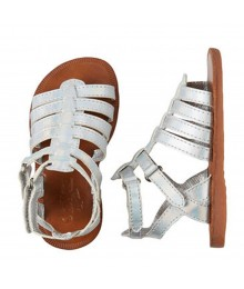 Oshkosh Silver Gladiator Girls Sandals