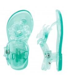 Oshkosh Green/Aqua Jelly Sandals Wt Petals