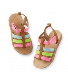 Carters Multi Strap -Pink,Neon,Turq,Brwn Gladiator Sandals