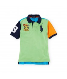 polo big pony dual green mult colorblk boy polo