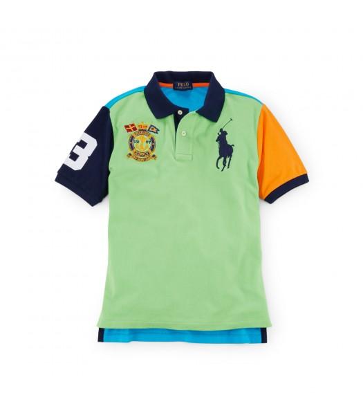 polo big pony dual green mult colorblk boy polo