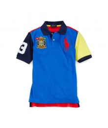 POLO BIG PONY DUAL BLUE MULTI COLORBLK BOY POLO